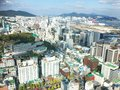 Urban View From Busan Tower On Cloudy Blue Sky Royalty Free Stock Photos - 103385238