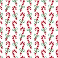 Christmas Seamless Pattern Of Candy Canes. Bright New Year Wrapping Paper. Royalty Free Stock Images - 103409909
