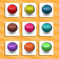 Set Of Round Buttons On The Background Royalty Free Stock Photography - 10350617