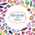 Colorful Retro Baubles Background. Decorative Christmas Tree Balls. Royalty Free Stock Photo - 103529825
