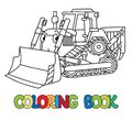 Funny Small Bulldozer With Eyes. Coloring Book Stock Photo - 103536750
