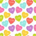 Cute Retro Seamless Valentines Day Pattern With Hearts Royalty Free Stock Photos - 103588268