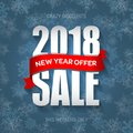 New Year 2018 Sale Badge, Label, Promo Banner Template. Special Offer Royalty Free Stock Photos - 103941178