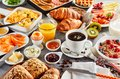 Huge Healthy Breakfast Spread On A Table Royalty Free Stock Images - 103997239