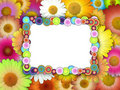 Bubbly Frame On Chamomile Background Royalty Free Stock Photos - 10408928