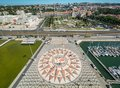 Panoramic View From Monument To The Discoveries, Lisbon, Portugal Royalty Free Stock Photos - 104090868