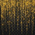 Festive Explosion Of Confetti. Gold Glitter Background For The Card, Invitation. Royalty Free Stock Photo - 104112635