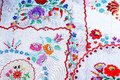 Embroidery. Patchwork Handwork Embroidery Closeup Texture Pattern Studio Photo Background. Royalty Free Stock Photos - 104174568