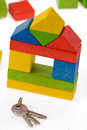 Wooden Toy Blocks And Keys Royalty Free Stock Images - 10429639