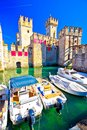 Town Of Sirmione Entrance Walls View Stock Images - 104208604