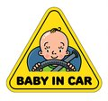 Baby In Car. Back Window Sticker Or Sign Royalty Free Stock Photo - 104270635