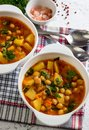 Tomato Soup With Chickpeas Stock Images - 104273994