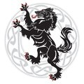 Design Werewolf And Celtic-Scandinavian Ornament Royalty Free Stock Image - 104317726
