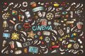 Colorful Vector Hand Drawn Cinema Doodle Cartoon Set Of Objects Royalty Free Stock Photos - 104322728