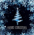 Blue Merry Christmas Tree Snowflakes Background Royalty Free Stock Photography - 104384777