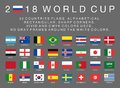 Fifa World Cup 2018 Flags Of 32 Countries Royalty Free Stock Photography - 104430877