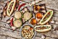 Fast-Food, Food Festival. Food Buffet Catering Dining Eating Party Sharing Concept. Food Festival. All Kinds Of Fast Food. Hot Dog Royalty Free Stock Images - 104453579