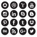 Social Media Icon Collection Buttons Stock Image - 104490571