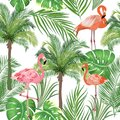 Seamless Pattern Tropical Leaves Of Palm Tree Royalty Free Stock Images - 104491089