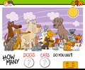 Counting Dogs And Cats Activity Game Stock Photos - 104497693