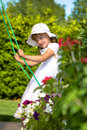 A Closeup Portrait Of A Young Girl On A Swing Stock Image - 10459621