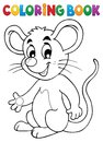 Coloring Book Happy Mouse Royalty Free Stock Images - 104525469