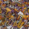 Cartoon Cute Doodles Classical Music Seamless Pattern Royalty Free Stock Photography - 104549017