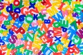 A Close Up Shot Of Magnetic Letters Royalty Free Stock Images - 104552339