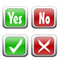 Yes And No Buttons Royalty Free Stock Images - 10468639