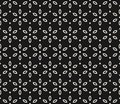Vector Geometric Floral Pattern. Black And White Seamless Texture Stock Image - 104629671