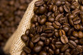 Coffee Beans In A Sack Stock Images - 10473514