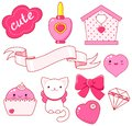 Cute Little Princess Sticker Collection Stock Photography - 104756232