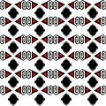Seamless Ethnic Pattern Vector Traditional Tribal Geometric Ornaments Black Red And White Background Design Retro Vintage Bohemian Royalty Free Stock Photos - 104790518