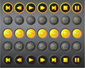 A Set Of Round Vector Media Buttons Stock Photo - 10487240
