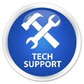 Tech Support (tools Icon) Premium Blue Round Button Royalty Free Stock Photography - 104814117
