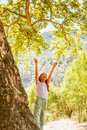 Little Girl And Big Tree Royalty Free Stock Images - 104848809