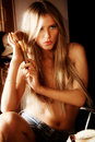 Sensual Blond Royalty Free Stock Photos - 10492408