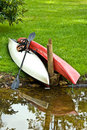 Kayaks At The Waters Edge Royalty Free Stock Photography - 10492697