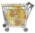 Shopping Cart With Golden Globe Royalty Free Stock Photography - 10498027