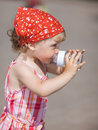 Little Girl Drinking Royalty Free Stock Photo - 10515945