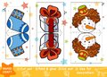 Education Paper Crafts For Children, Christmas Gift And Snowman Royalty Free Stock Images - 105113989