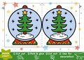 Paper Crafts For Children, Snowball And Christmas Tree Stock Image - 105114081