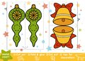 Education Paper Crafts For Children, Christmas Bell And Toy Stock Image - 105114641