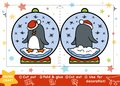 Christmas Paper Crafts For Children, Snowball With A Penguin Royalty Free Stock Image - 105114766