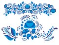 Russian Ornaments Art Gzhel Style Painted With Blue  Stock Image - 105204651