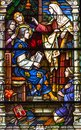 Colorful Stained Glass Window In St Louis Cathedral In New Orlea Stock Photos - 105244413