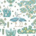 Seamless Pattern With Stork Birds Stock Image - 105265161