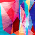 Abstract Watercolor Geometric Background Stock Photos - 105290953