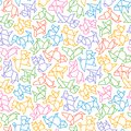 Vector Origami Dog Seamless Background Stock Photography - 105291412