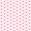 Cute Primitive Retro Seamless Pattern With Small Hearts On Striped Background Stock Photo - 105310520